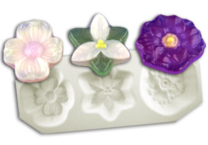 Small Mixed Flowers Casting Mold #2
