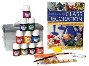 Glass Painting Starter Kit with Book