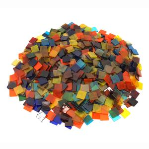 3/4 Cathedral Stained Glass Chip Assortment - 4 Lb Bulk