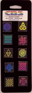10 Medium Dichroic Celtic Pinwheels - 96 Coe