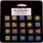 20 Small Dichroic Celtic Pinwheels - 96 COE