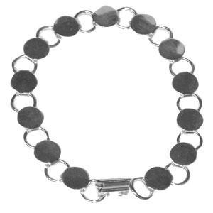 Silver Round Disk Bracelets - 2 Pack