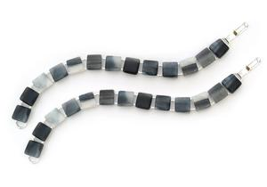 Silver Square Disk Bracelets - 2 Pack