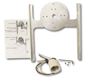 Wall Sconce Hardware Kit - Light Fixtures - Firelight Form Molds