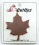 System 96 Cut-Up Opaque Red Maple Leaf