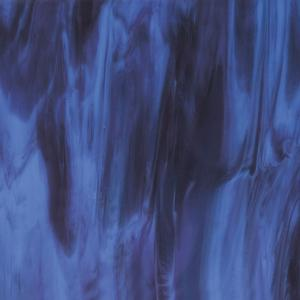 10 x 16 Bullseye Blue Opal, Plum Streaky - 90 COE