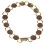 Gold Round Disk Bracelets - 2 Pack