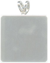 Silver Square Pendant Plates - 8 Pack