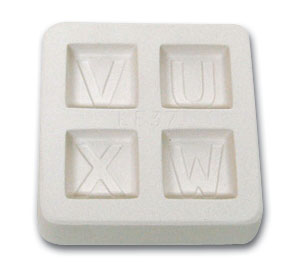 Letters U V W x Casting Mold