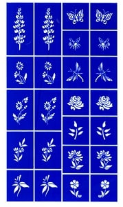 Rub N Etch Stencil - Flowers