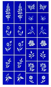 Rub N Etch Stencil - Flowers
