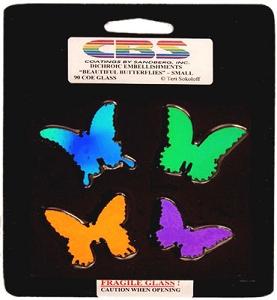 Dichroic Pre-Cut Small Butterflies - 90 COE