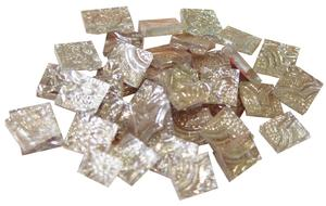 1/2 Silver Tapestry Mirror Tiles - 30 Pieces