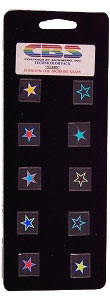 10 Medium Technicolor Dichroic Stars - 96 COE