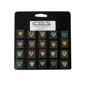 20 Small Technicolor Dichroic Hearts - 96 COE
