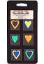6 Large Technicolor Dichroic Hearts - 90 COE