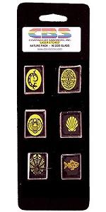 6 Large Dichroic Nature Pinwheels - 90 COE