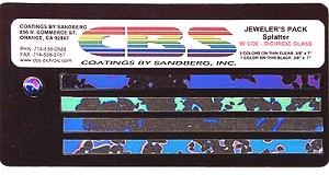CBS Small Dichroic Splatter Pack - 96 COE