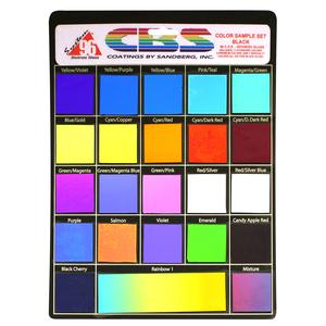 CBS Dichroic Color Assortment on Black - 96 COE