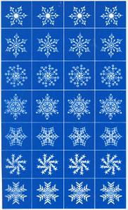 Rub N Etch Stencil - Snowflakes