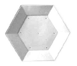 9-1/2 Hexagon Plate