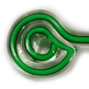 Green with White Core Filigrana Single Rod - 104 COE