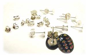 Sterling Silver Earring Posts - 6 Pair