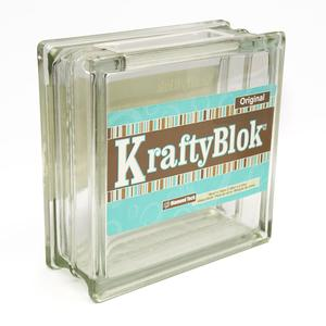 Kraftyblok 7 1 2 clear glass items to mosaic items to for Wholesale glass blocks for crafts