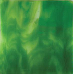 Oceanside Fern Green on Clear Hand-Rolled Streaky - 96 COE