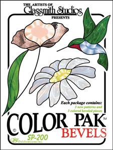 Color Pak 2 Bevel Clusters - Hummingbird & Flowers