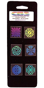 6 Large Dichroic Celtic Pinwheels - 96 COE