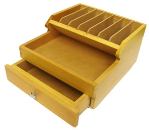 Deluxe Wooden Tool Caddy