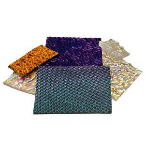 1/4 Lb CBS Dichroic Texture Scrap - 90 COE