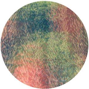 Salmon on Clear Herringbone Ripple - 90 COE