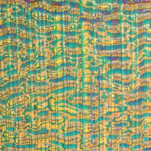 DichroMagic Cyan/ Copper on Clear Fipple - 90 COE