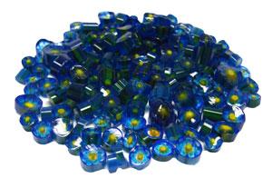 Blue Millefiori - 2 Oz