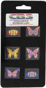6 Large Technicolor Dichroic Butterflies - 90 COE