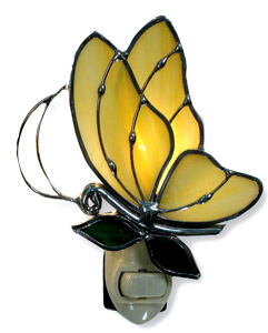 Pre-Cut Yellow Butterfly Night Light Kit