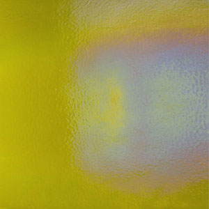 Bullseye Chartreuse Rainbow Iridized Double Rolled - 90 COE