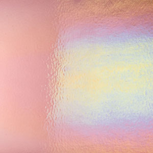 Bullseye Light Plum Rainbow Iridized Double Rolled - 90 COE