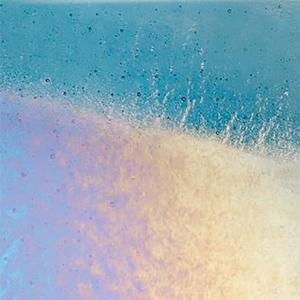 Bullseye Sea Blue Rainbow Iridized Thin - 90 COE