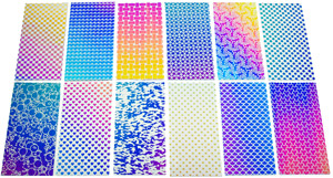 DichroMagic Laser Patterns Sample Set On Thin Clear - 90 COE