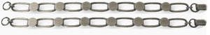 Silver Plate Oval Link Bracelet - 2 Pack