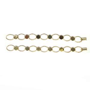 Gold Plate Hammered Link Bracelet - 2 Pack