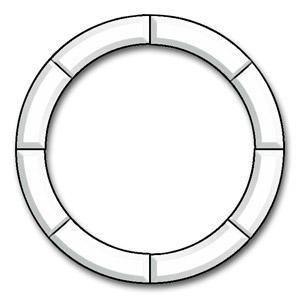 16 Circle Frame Bevel Cluster