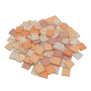 3/4 Tropical Sunset Patchwork Glass Tile Assortment - 1 lb
