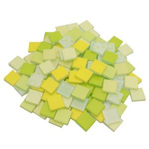 3/4 Lemon and Lime Patchwork Glass Tile Assortment - 1 lb