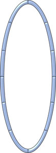 14-5/8 x 39-3/4 x 1 Oval Border Cluster
