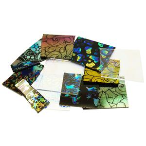 1/4 Lb Decal Pattern Dichroic Combo Scrap - 96 COE
