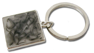 Double Sided Square Key Chain